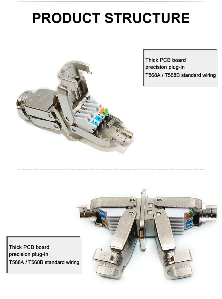 10Gbps Ethernet Cable Joint Connector Shielded Tool-free