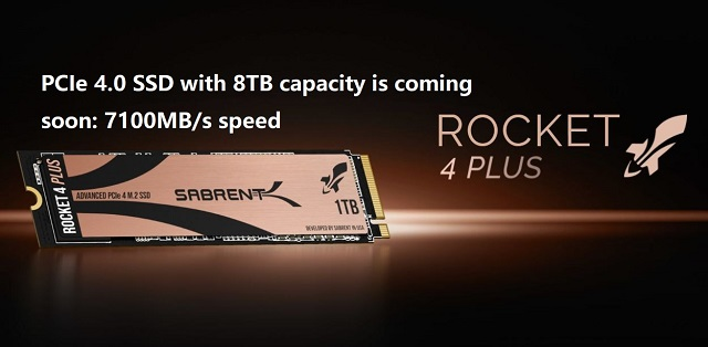 PCIe 4.0 SSD with 8TB capacity is coming soon: 7100MB/s speed